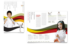 Karate & Martial Arts - Microsoft Publisher Brochure Template