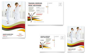 Karate & Martial Arts - Postcard Template Design Sample