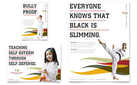 Karate & Martial Arts - Print Ad Sample Template