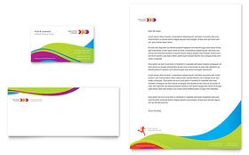 Personal Trainer - Business Card & Letterhead Template