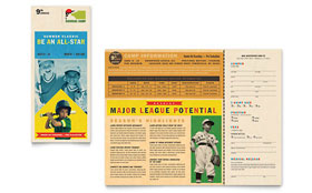 Baseball Sports Camp - Desktop Publishing Brochure Template