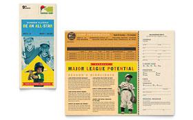 Baseball Sports Camp - Brochure Template