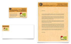 Baseball Sports Camp - Business Card & Letterhead Template Design Sample