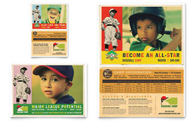 Baseball Sports Camp - Flyer & Ad Template Design Sample