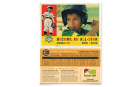Baseball Sports Camp - Leaflet Sample Template