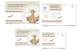 Pilates & Yoga - Postcard Template Design Sample