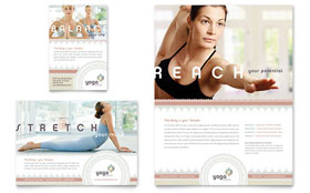 Pilates & Yoga - Flyer & Ad Template Design Sample