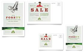Golf Course & Instruction - Postcard Sample Template