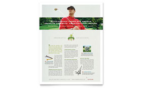 Golf Course & Instruction - Flyer Template Design Sample