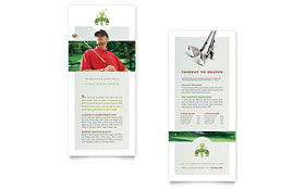Golf Course & Instruction - Rack Card Template Design Sample