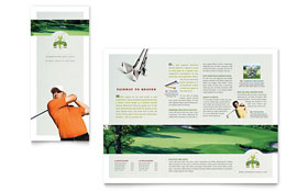 Golf Course & Instruction - Tri Fold Brochure Template Design Sample