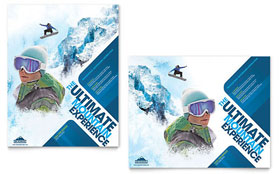 Ski & Snowboard Instructor - Poster Sample Template