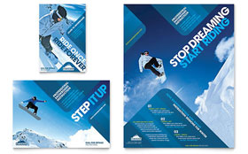 Ski & Snowboard Instructor - Flyer & Ad