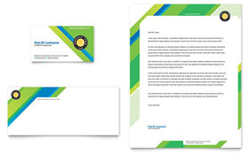 Tennis Club & Camp - Business Card & Letterhead Template Design Sample