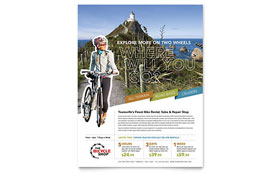 Bike Rentals & Mountain Biking - Flyer Template