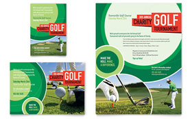 Golf Tournament - Flyer & Ad Template Design Sample