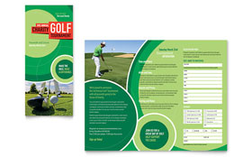 Golf Tournament - Tri Fold Brochure Template