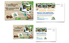 Kids Summer Camp - Postcard Template Design Sample