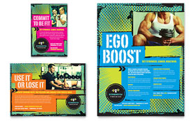 Strength Training - Print Ad Template