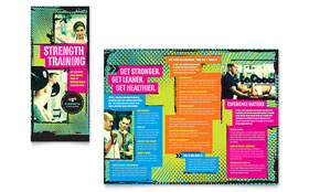 Strength Training - Tri Fold Brochure Template Design Sample