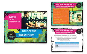 Strength Training - PowerPoint Presentation Template Design Sample