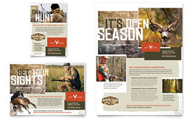Hunting Guide - Flyer & Ad Template Design Sample