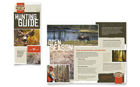 Hunting Guide - Graphic Design Tri Fold Brochure Template