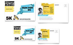 Charity Run - Postcard Template Design Sample
