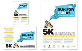 Charity Run - Flyer & Ad Template