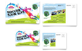 Youth Soccer - Postcard Sample Template