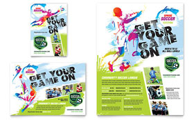Youth Soccer - Flyer & Ad Template Design Sample