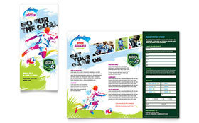 Youth Soccer - Tri Fold Brochure Template Design Sample