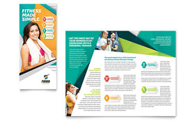 Fitness Trainer - Microsoft Word Brochure Template