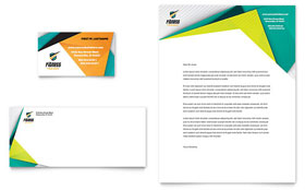 Fitness Trainer - Business Card & Letterhead Template