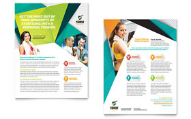 Fitness Trainer - Datasheet Sample Template