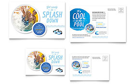 Community Swimming Pool - Postcard Sample Template
