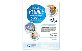 Community Swimming Pool - Flyer Template