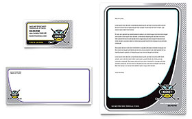 Junior Hockey Camp - Business Card & Letterhead Template