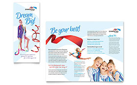 Gymnastics Academy - Apple iWork Pages Brochure Template