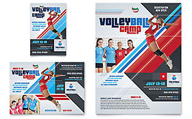 Volleyball Camp - Flyer & Ad Template