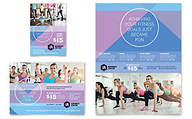 Aerobics Center - Print Ad Sample Template