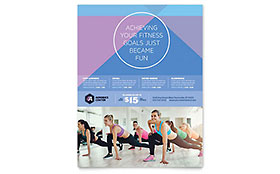Aerobics Center - Flyer Sample Template