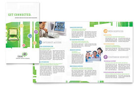 ISP Internet Service - Tri Fold Brochure Sample Template
