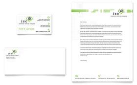 ISP Internet Service - Business Card & Letterhead Template