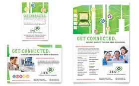 ISP Internet Service - Leaflet Template