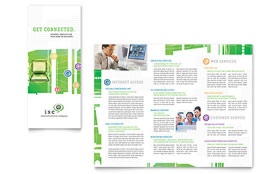 ISP Internet Service - Apple iWork Pages Tri Fold Brochure Template