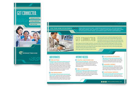Internet Service Provider - Brochure Template Design Sample
