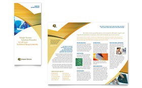 Computer Services & Consulting - QuarkXPress Tri Fold Brochure