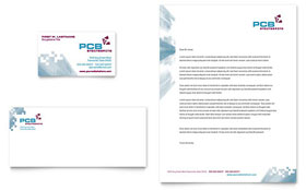 High-Tech Manufacturing - Business Card & Letterhead Template Design Sample