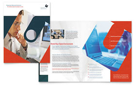 Computer Software Company - InDesign Brochure Template
